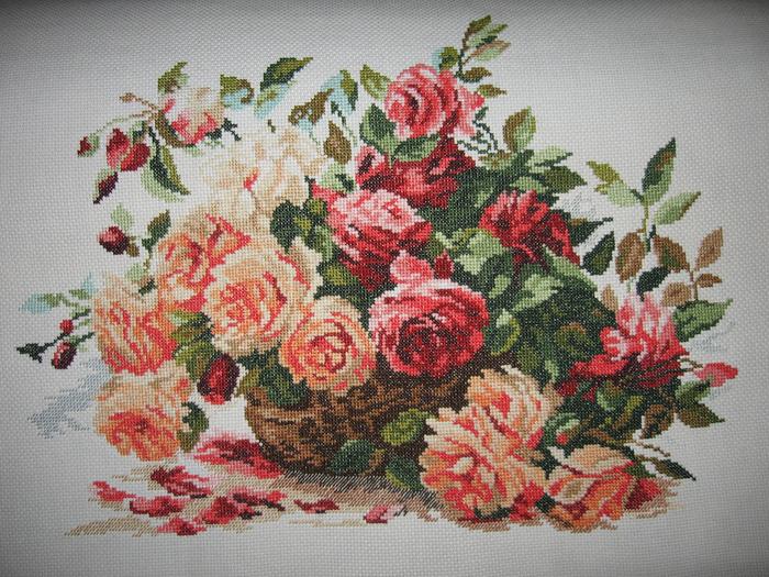 Вышивка крестом розы от алисы 79