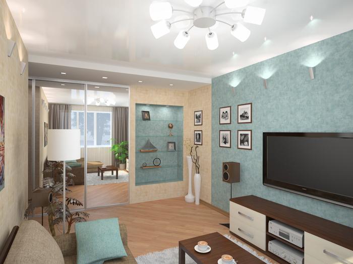Интерьер в маленькой квартире фото 2