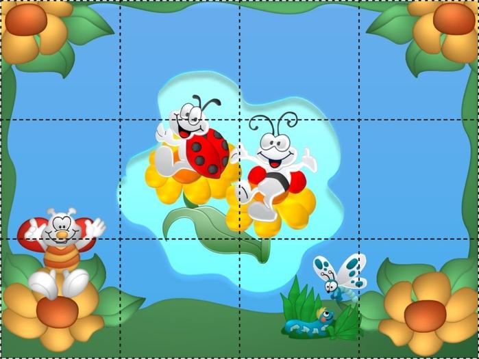 Разрезные картинки цветы 4
