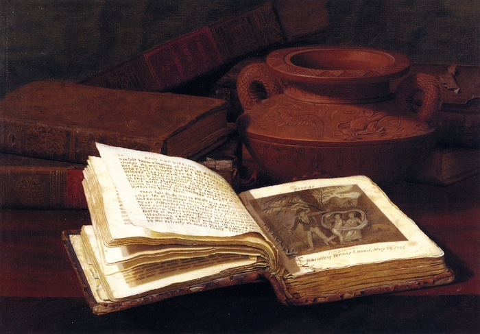 Books and Pottery Vase (700x487, 122Kb)