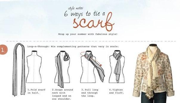 Как красиво завязать шарф.