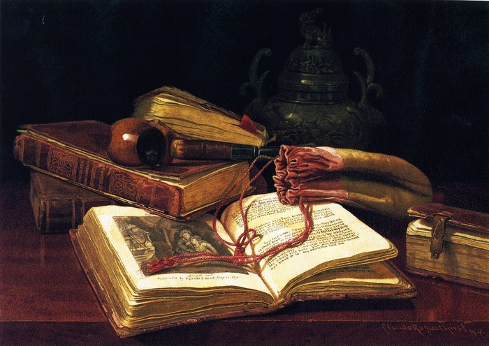Still LIfe with Books (700x496, 128Kb)