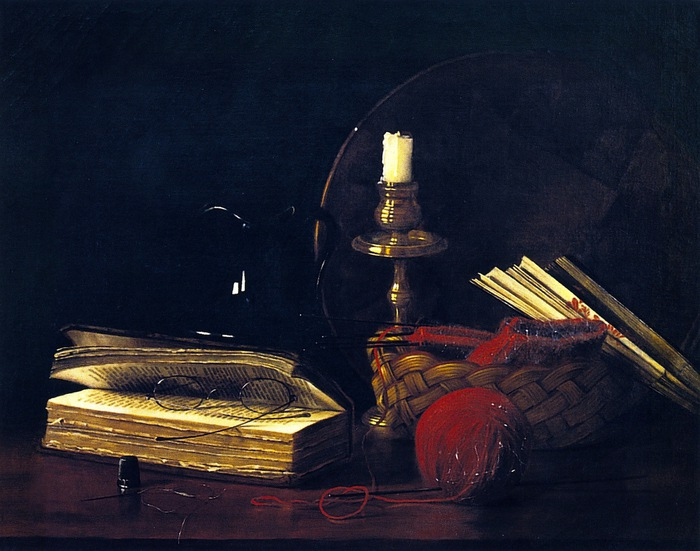 Still LIfe with Sewing Basket (700x551, 111Kb)