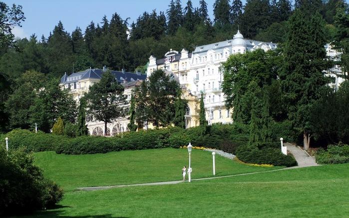 Курорт Марианске Лазне - зелёная жемчужина Чехии. 16317