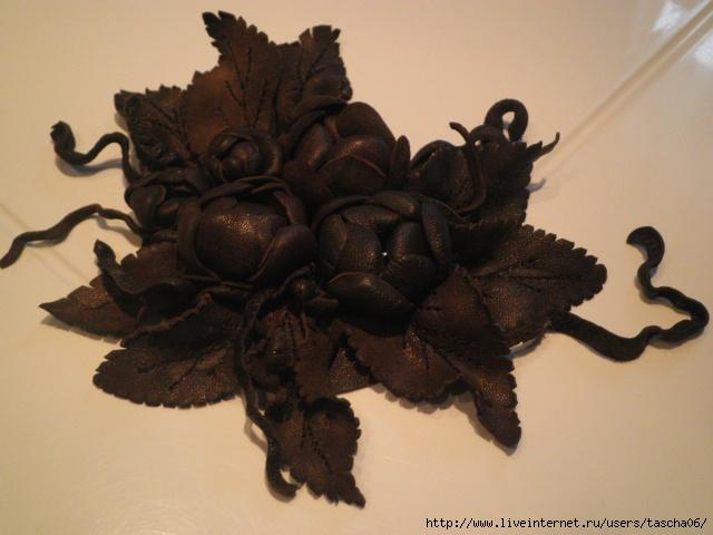 Часть 1 - цветы из кожи