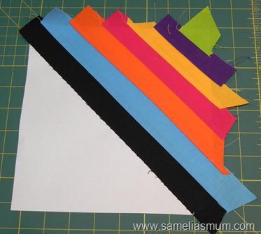 Мастер класс: подушка цвета радуги