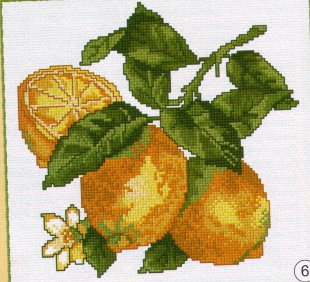 Вышивка. Лимоны