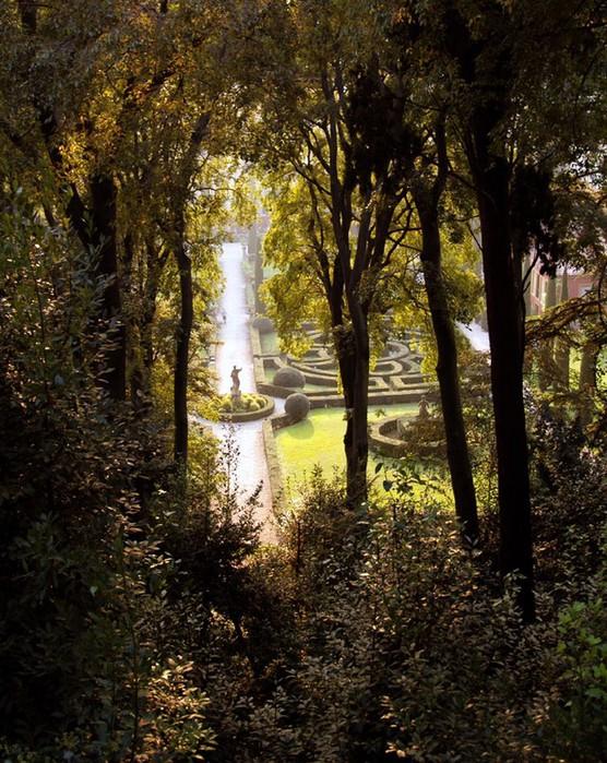 Сад Джусти - достопримечательности Италии 1 (556x700, 168Kb)