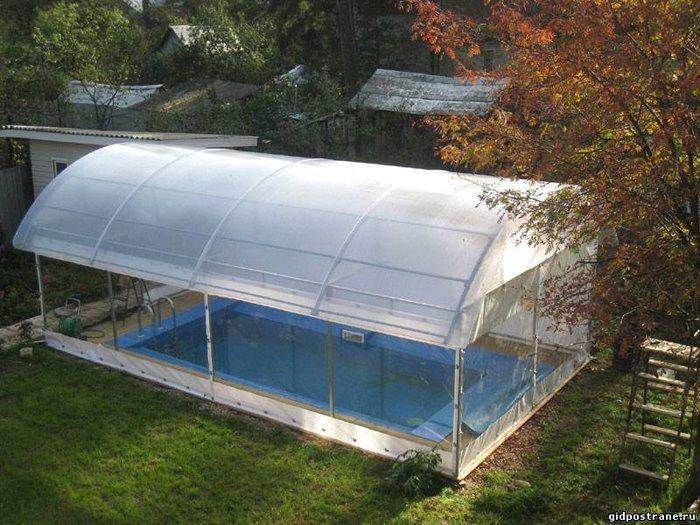 На даче, для полива сала-огорода…