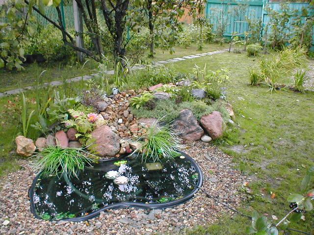 Декоративный водоем на даче фото