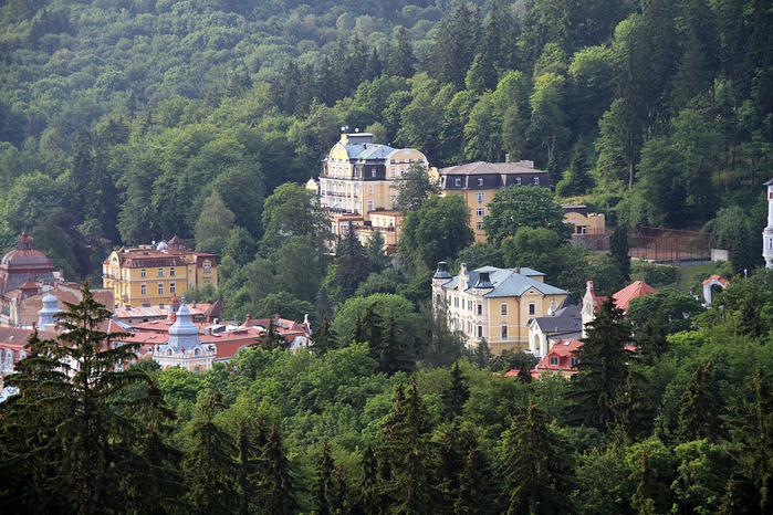 Курорт Марианске Лазне - зелёная жемчужина Чехии. 79273