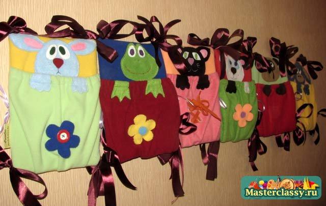 """Детские игрушки своими руками Кармашки - развивающие Мастер класс с пошаговыми фото """" Мастерклассы"""