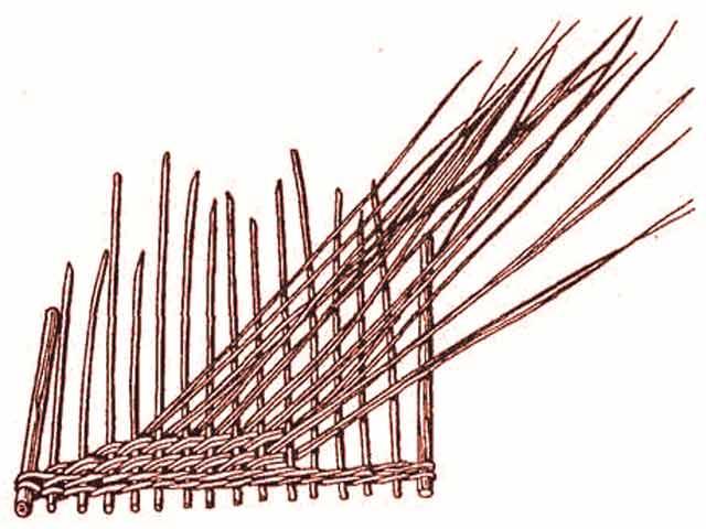 Плетение рядами.