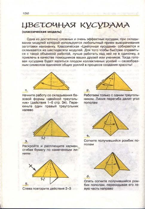 """Фото. отсюда.  Кусудама  """"Бабочка """" (Butterfly) считается классической моделью, диаграмма сборки опубликована в книге..."""