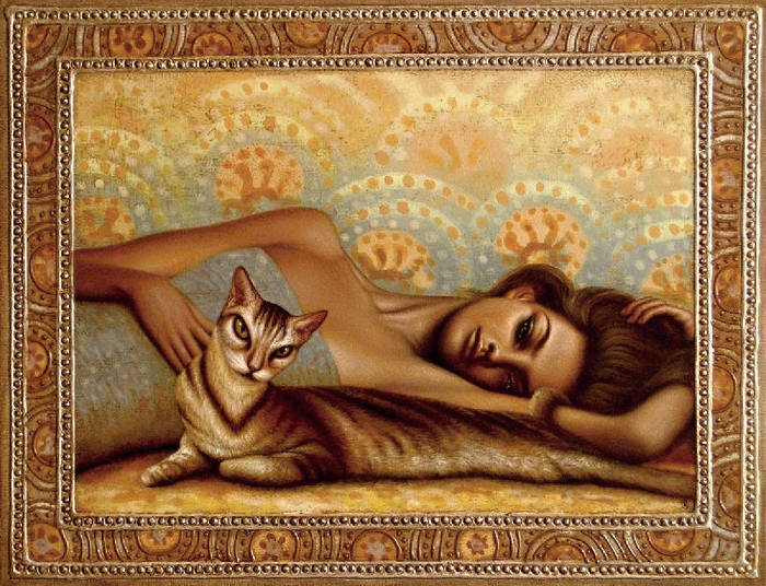 01-Woman and cat (700x536, 102Kb)