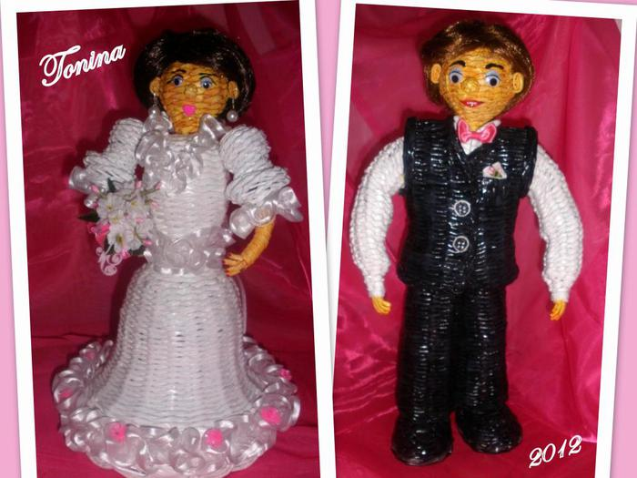 Кукла из газетных трубочек (2)