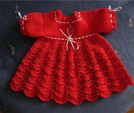 крючком платье для малышки