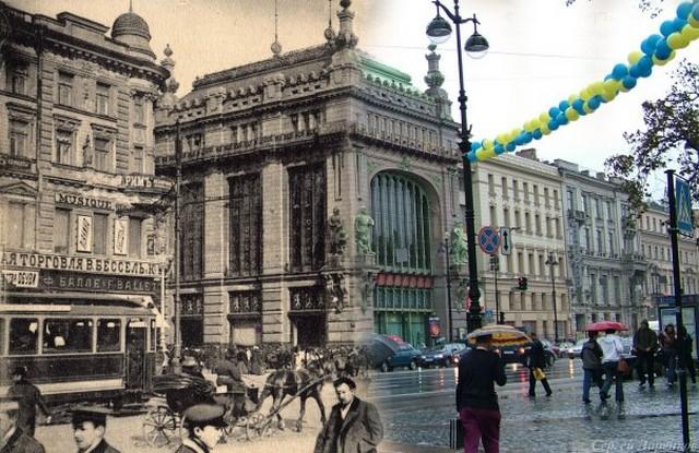 Городские пейзажи Петербурга в прошлом и настоящем 3 (640x415, 108Kb)