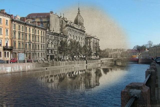 Городские пейзажи Петербурга в прошлом и настоящем 7 (640x430, 87Kb)