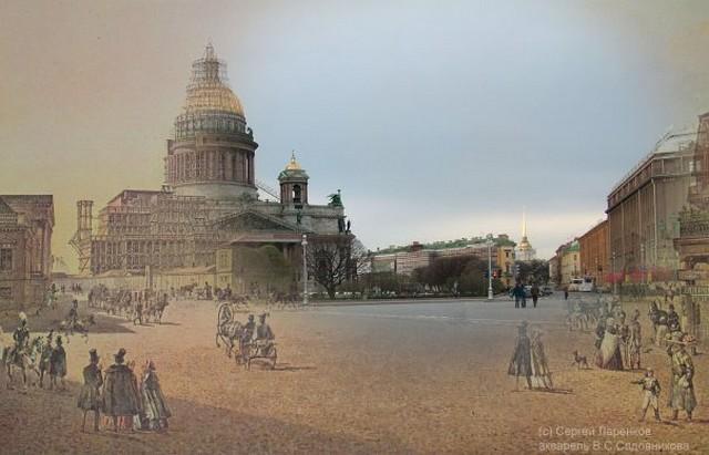 Городские пейзажи Петербурга в прошлом и настоящем 11 (640x411, 61Kb)