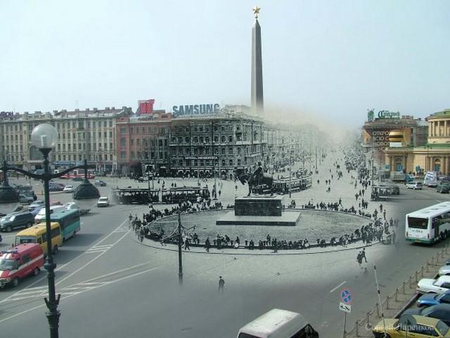 Городские пейзажи Петербурга в прошлом и настоящем 15 (640x480, 80Kb)