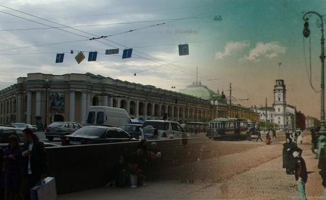 Городские пейзажи Петербурга в прошлом и настоящем 17 (640x393, 57Kb)
