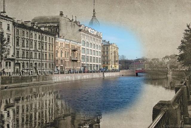 Городские пейзажи Петербурга в прошлом и настоящем 19 (640x430, 97Kb)