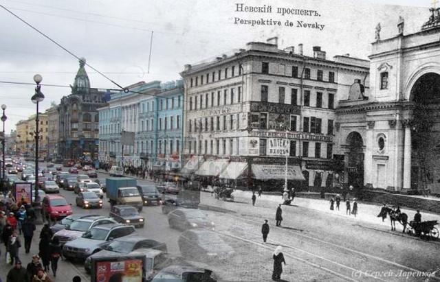 Городские пейзажи Петербурга в прошлом и настоящем 23 (640x411, 90Kb)