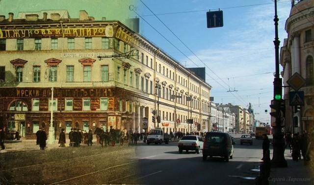 Городские пейзажи Петербурга в прошлом и настоящем 27 (640x377, 84Kb)