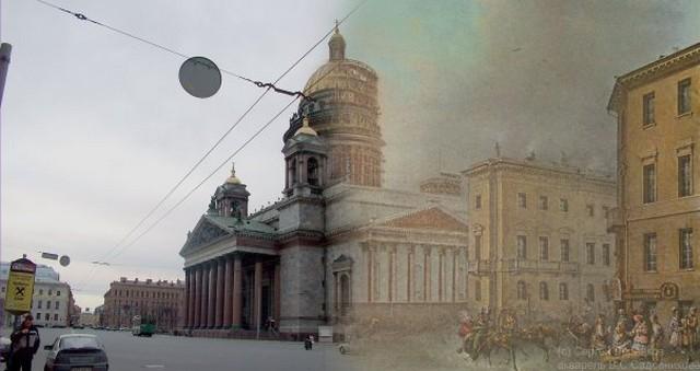 Городские пейзажи Петербурга в прошлом и настоящем 29 (640x339, 50Kb)