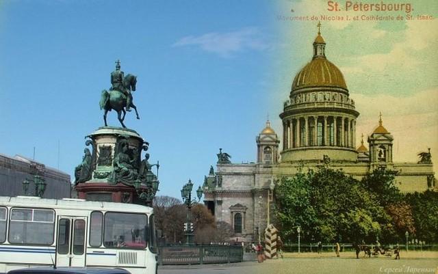 Городские пейзажи Петербурга в прошлом и настоящем 31 (640x401, 73Kb)