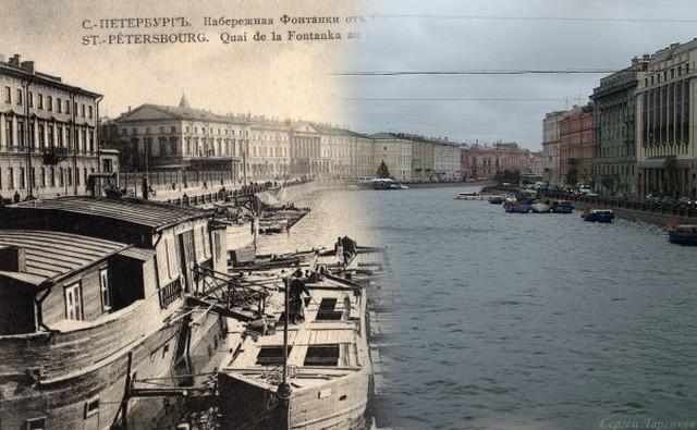 Городские пейзажи Петербурга в прошлом и настоящем 33 (640x395, 82Kb)