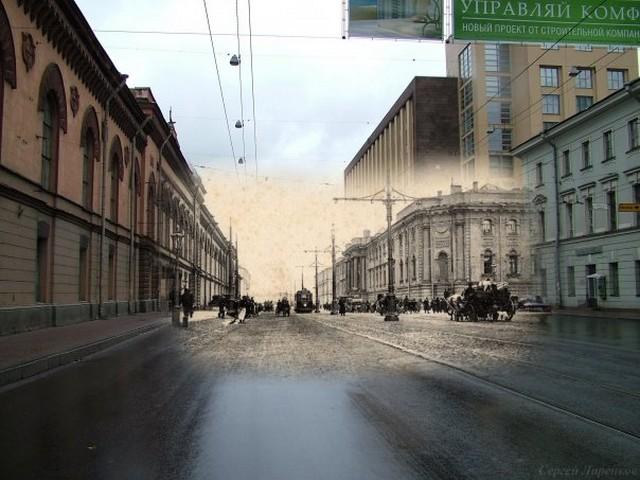 Городские пейзажи Петербурга в прошлом и настоящем 37 (640x480, 80Kb)