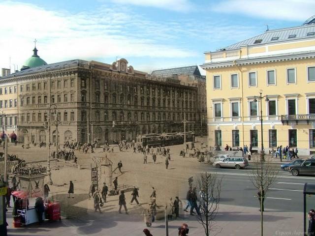 Городские пейзажи Петербурга в прошлом и настоящем 39 (640x480, 95Kb)