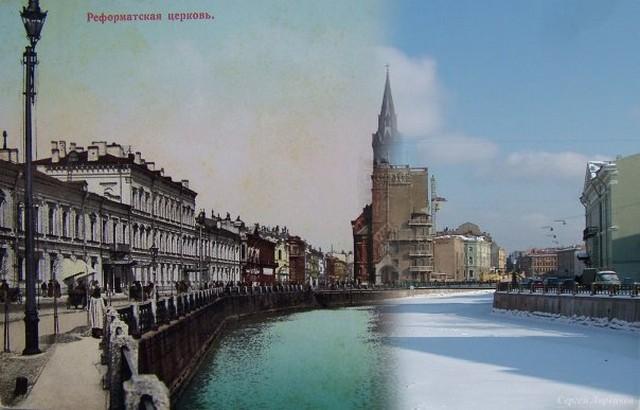 Городские пейзажи Петербурга в прошлом и настоящем 43 (640x410, 64Kb)
