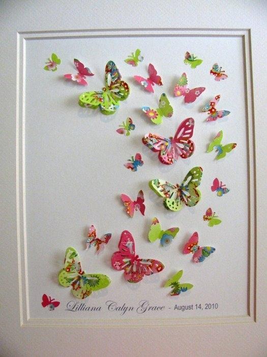 Интерьер бабочки своими руками