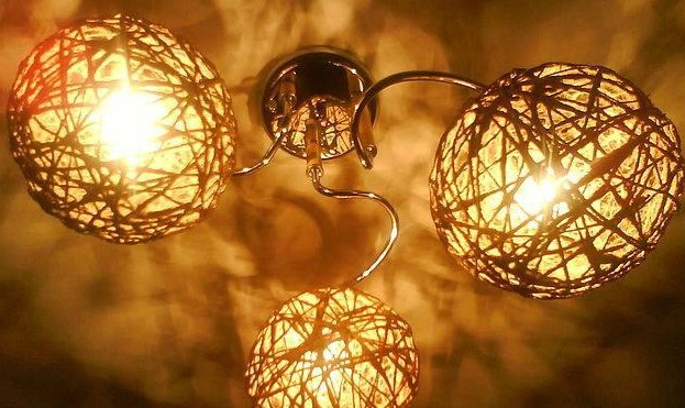 Светильники из шара своими руками