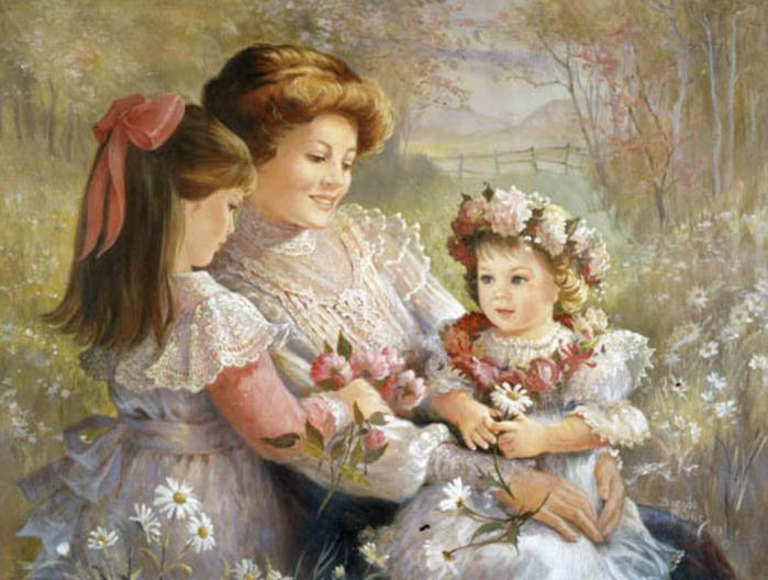У матерей святая должность в мире - Молиться за дарованных детей.  И день и ночь в невидимом эфире Звучат молитвы...