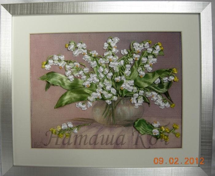 цветы из лент... пошагово,