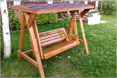 Качели садовые для дачи фото, как сделать качели для дачи своими руками, делаем деревянные садовые качели.