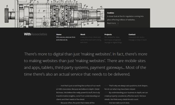 Потрясающие темные дизайны сайтов Фотографии