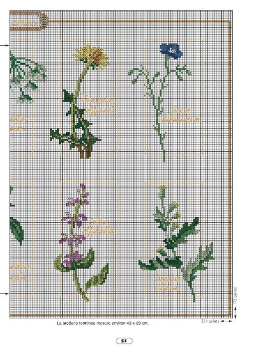 Вышивка травы схемы 91