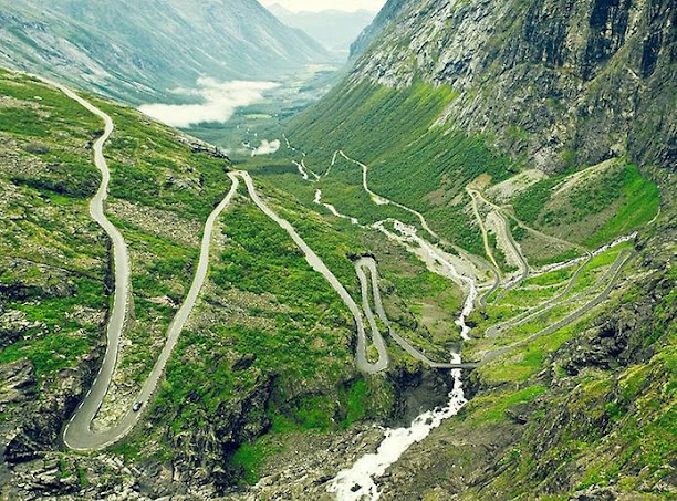 Трольштиген – горный серпантин в Норвегии, являющийся частью национальной дороги (612x453, 171Kb)