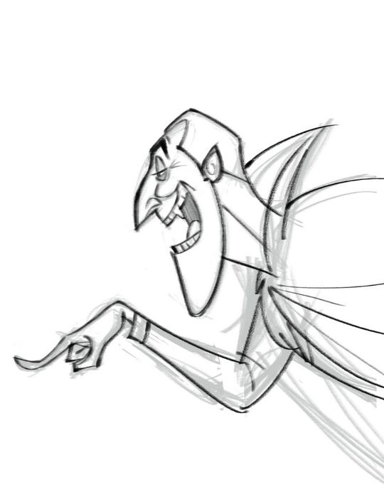 Рисунок монстра дракулы