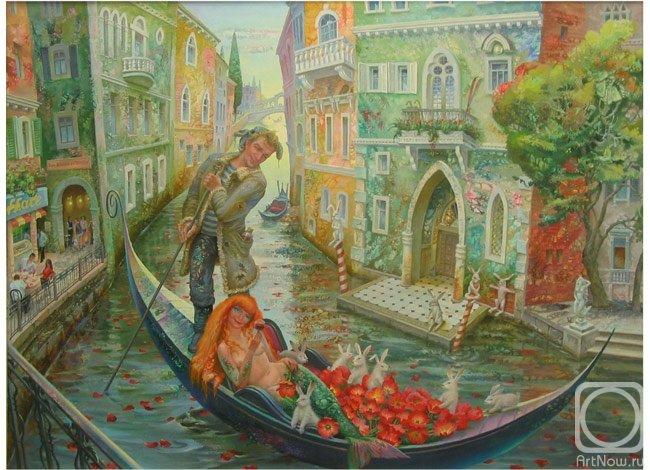 1 Красавица Русалка в лодке Венецианского деда Мазая (650x470, 90Kb)