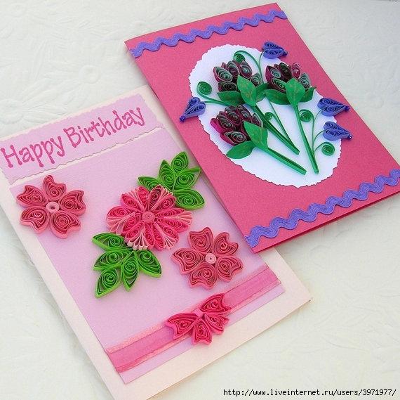 Как сделать открытку легко маме на день рождения