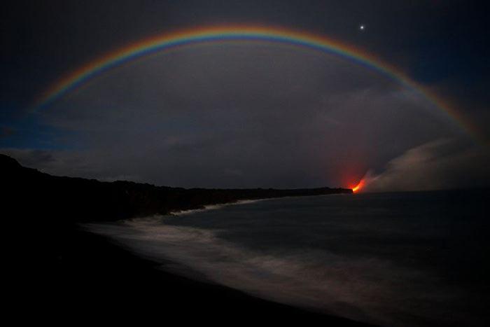 Там, где лава встречается с водой   фото, Гавайи