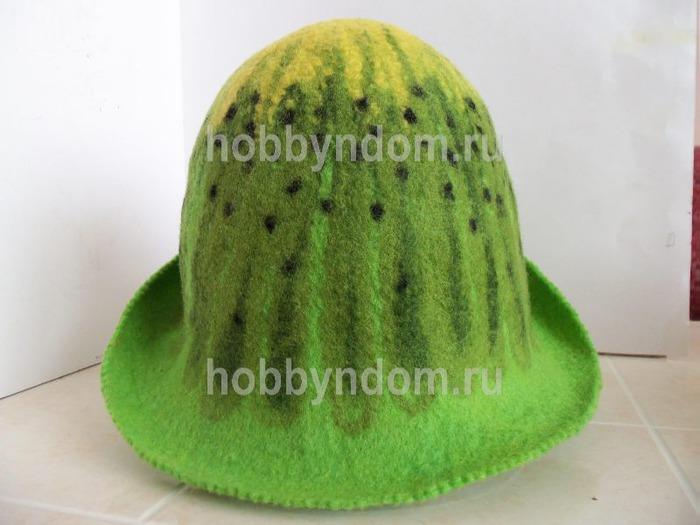 Мастер класс по валянию шапки банной