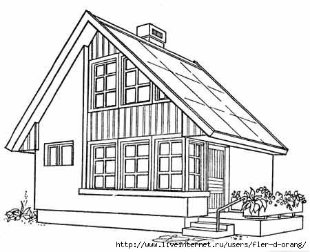 Раскраски жилого дома