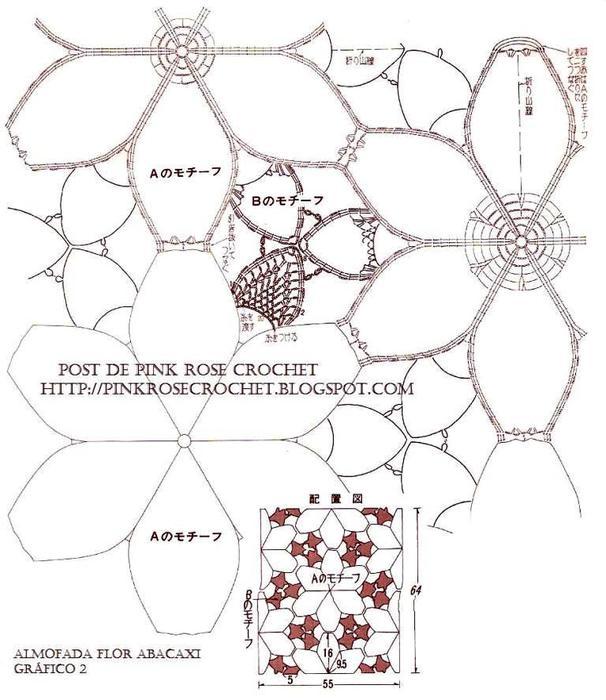 Almofada Flor Abacaxi Gr2-PRose Crochet (606x700, 66Kb)